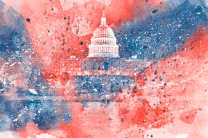 Acrylic Capitol - Red White and Blue