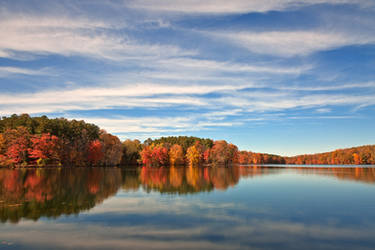 Autumn Liberty Reservoir by boldfrontiers