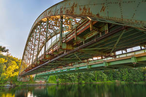 Rusted Sunset Bridge by boldfrontiers