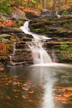 Spinning Autumn Factory Falls