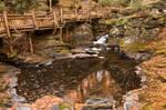 Swirling Bushkill Fall Stream by boldfrontiers