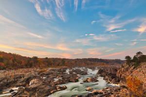 Great Autumn Twilight Falls