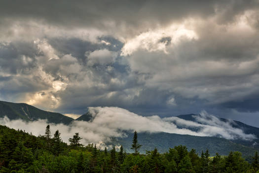 Glowing White Mountain Clouds