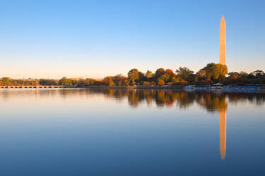 Golden Autumn Hour of Washington DC