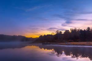 Pendleton Dawn Fantasy Lake by boldfrontiers