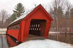 Jack O'Lantern Snow Covered Bridge
