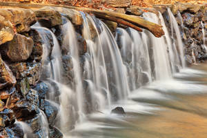 Ridley Creek Dam Waterfall by boldfrontiers