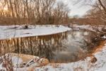 Golden Winter Hour of Rock Creek (freebie)