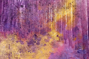 Acrylic Pine Forest by boldfrontiers
