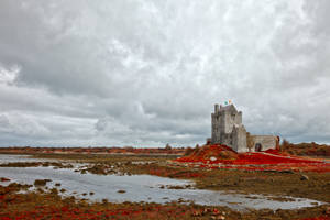 Dunguaire Castle - Blood Red by boldfrontiers