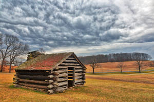 Valley Forge Cabin Cloudscape by boldfrontiers