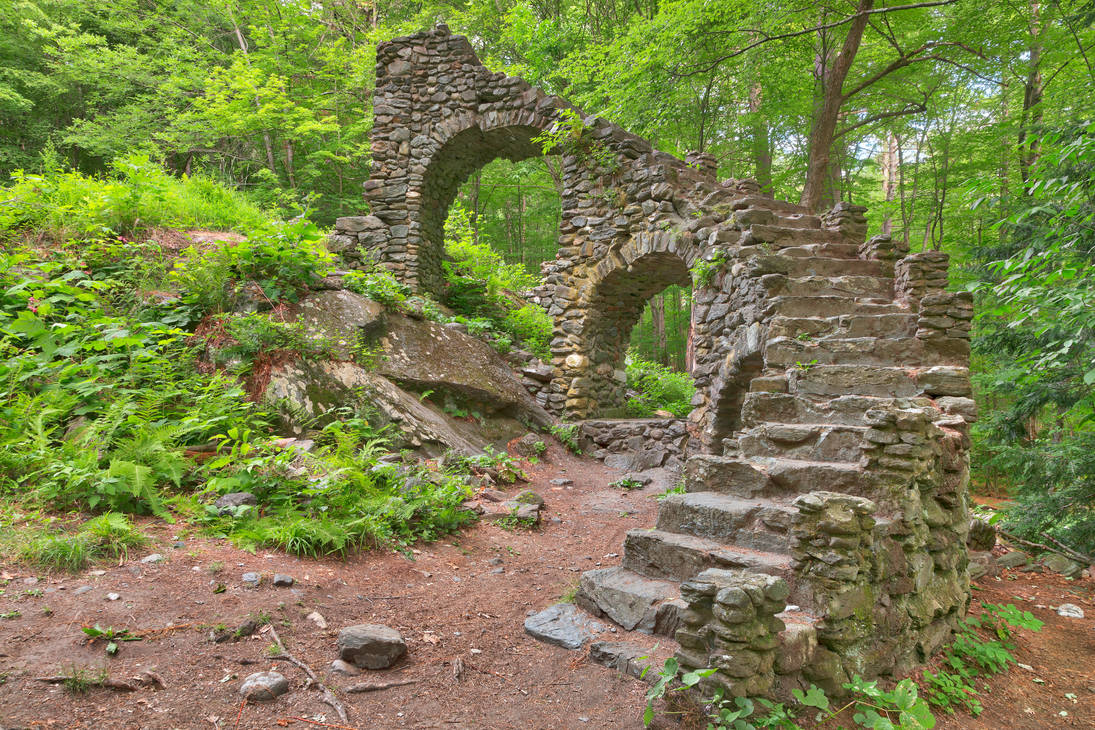 Forest Castle Ruins III by boldfrontiers