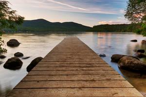 Lake Placid Sunset Jetty (freebie) by boldfrontiers