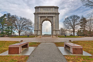 Valley Forge National Memorial Arch by boldfrontiers