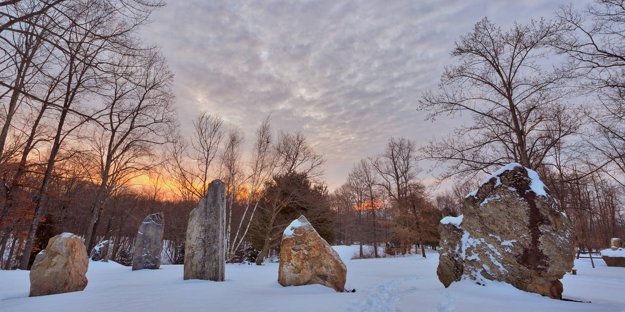 Winter Dawn Megaliths by boldfrontiers