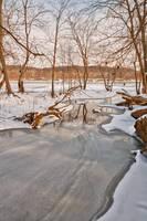 Great Falls Winter Stream (freebie) by boldfrontiers