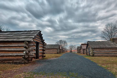 Valley Forge Cabin Trail by boldfrontiers