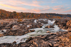 Great Autumn Twilight Falls II by boldfrontiers