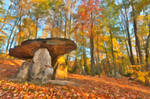Autumn Oil Impressions of a Dolmen Forest