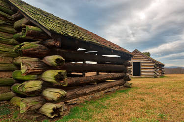 Valley Forge Cabin Pair (freebie) by boldfrontiers