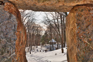 Winter Megalith Frame (freebie) by boldfrontiers