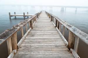 Misty Assateague Pier - High Key by boldfrontiers