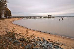 Leesylvania Beach Pier (freebie) by boldfrontiers