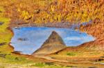 Abstract Kirkjufell Reflection