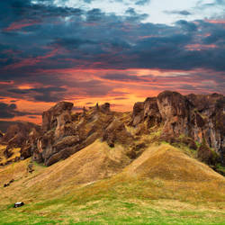 Iceland Sunset Fantasy - Monster Mountain