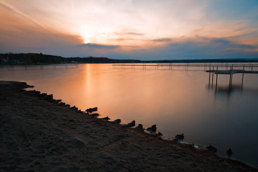 Cloudy Saratoga Lake Sunset (freebie)