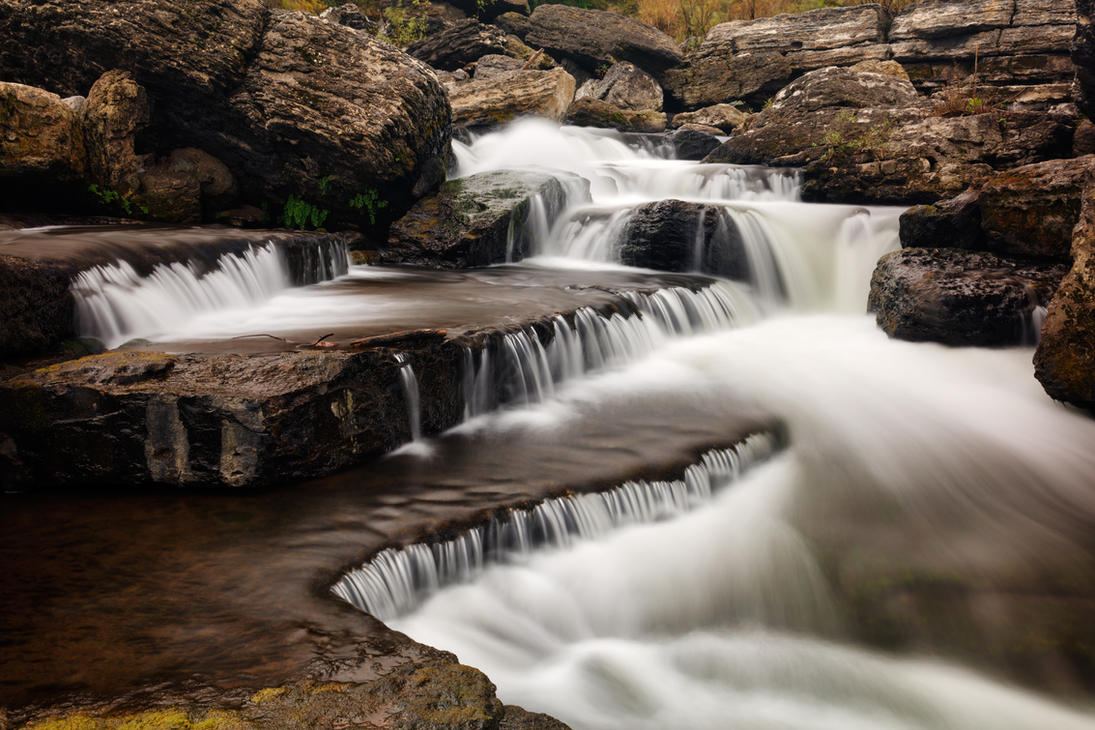 Caney Fork Cascades by somadjinn