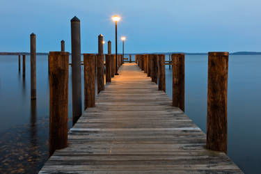 Blue Hour Pier - Havre de Grace by boldfrontiers
