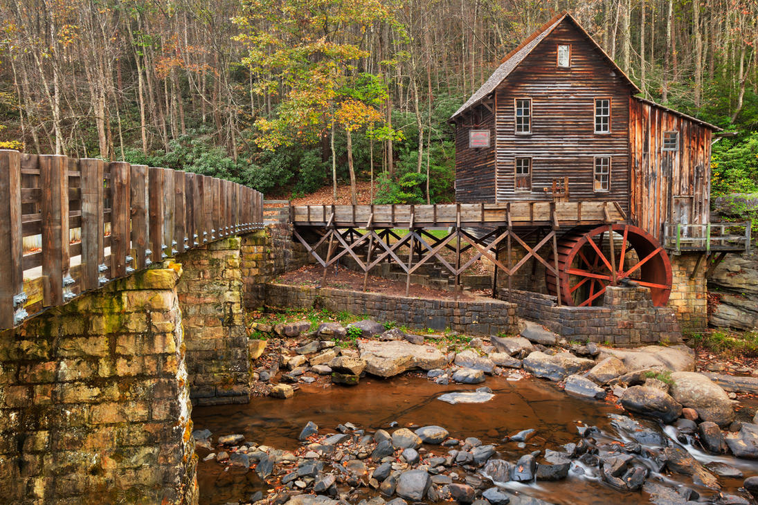 Glade Creek Grist Mill By Somadjinn On Deviantart