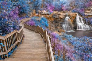 Winding Wonderland Waterfall by boldfrontiers