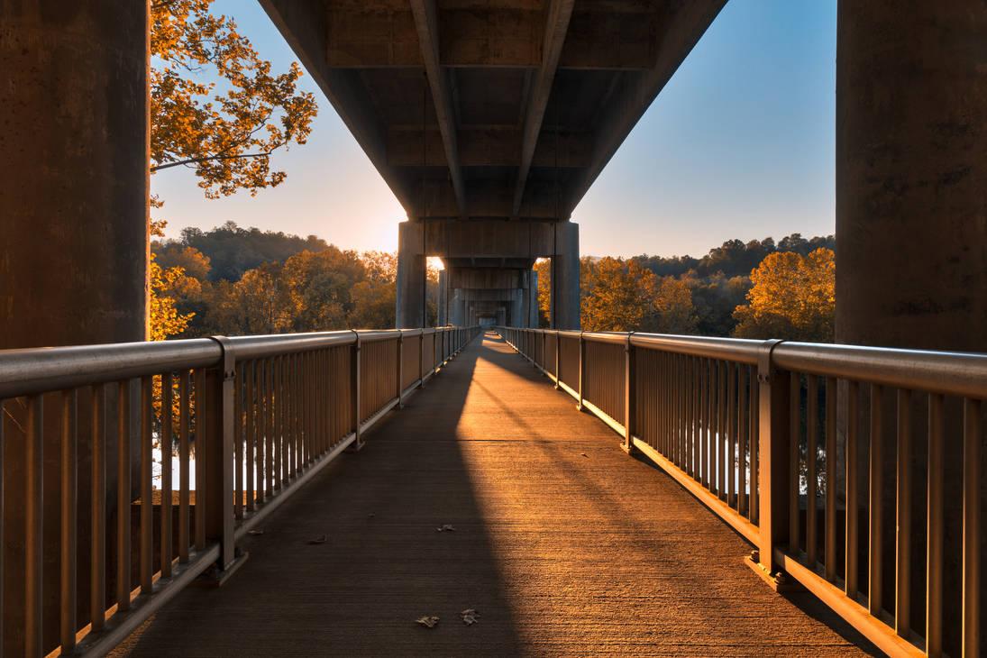 Golden Hour Bridge - James River by boldfrontiers