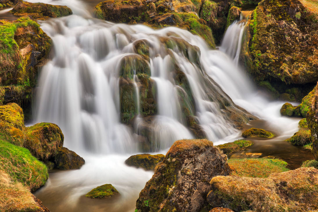 Iceland Moss Cascades by boldfrontiers