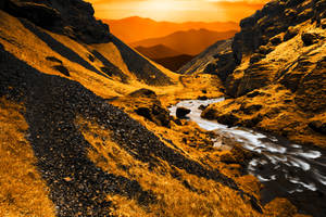 Golden Gorge Sunset by boldfrontiers