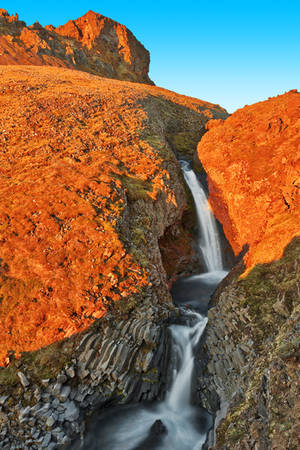 Mountain Clock Falls by boldfrontiers