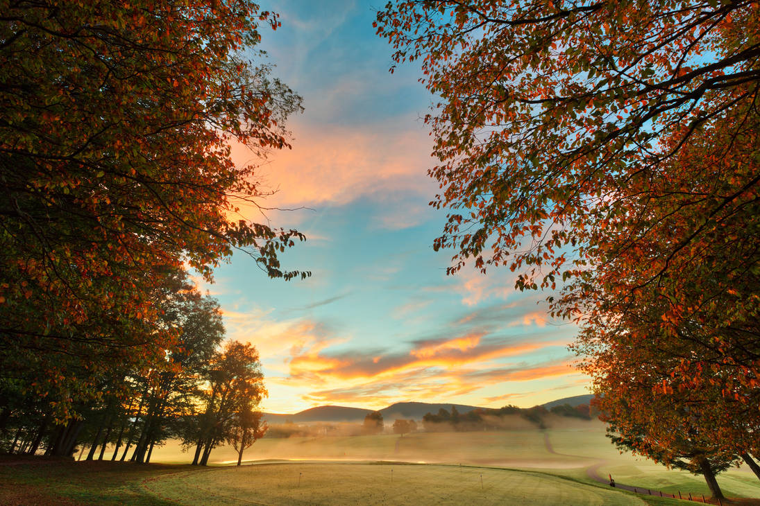 Misty Dawn Golf Course - Canaan Valley by boldfrontiers