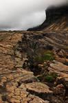 Cracked Iceland Mountain