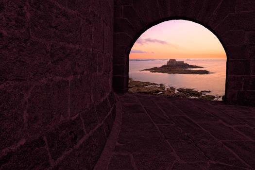 Saint-Malo Twilight Archway