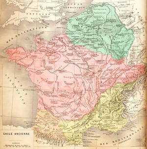 Vintage French Map - Ancient Gaul (freebie)