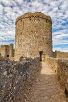 Kidwelly Castle Tower Path by boldfrontiers