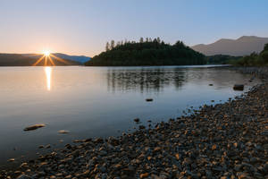 Derwent Water Sunset by boldfrontiers