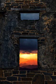 Sunset Grunge Frame