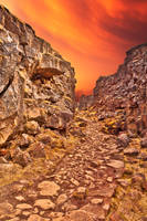 Rugged Sunset Rift Trail by boldfrontiers