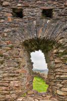 Dolwyddelan Castle Scream by boldfrontiers