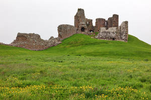 Duffus Castle Hill by boldfrontiers