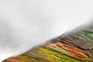 Painted Wood Mountain Fog by boldfrontiers