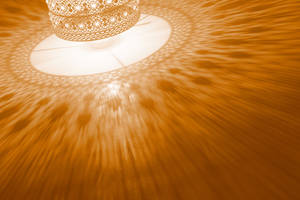 Gold Lamp Saucer by boldfrontiers